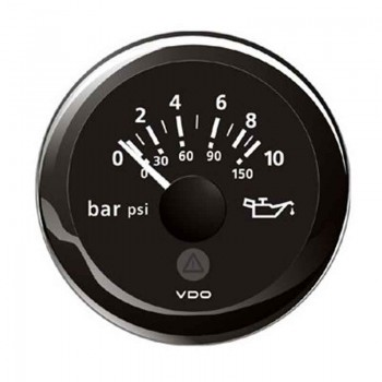 VDO MANOMETRO OLIO IDRAULICO NERO 0-10BAR/0-150PSI A2C59514111 VIEWLINE