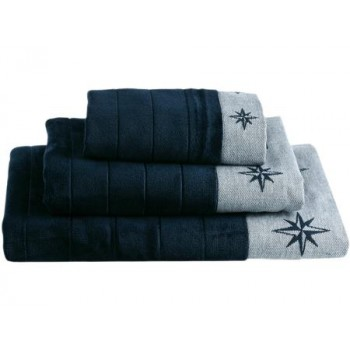 Set 3 Asciugamani Marine Business Free Style In Cotone Blu