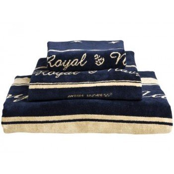 Set 3 Asciugamani Marine Business Royal Chic In Cotone