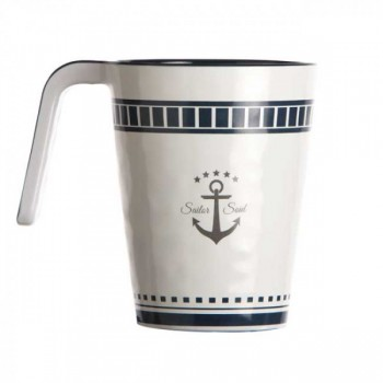 Marine Business Set 6 Tazze Da Latte Sailor Soul, Ø 8 Cm, H 10,7 Cm