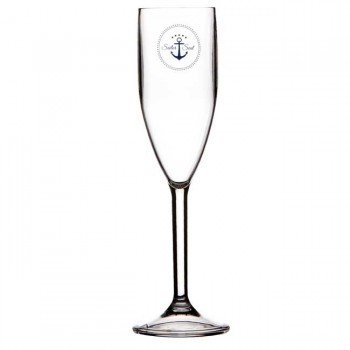 Marine Business Set 6 Bicchieri Champagne Sailor Soul, Ø 5,2 Cm, H 22 Cm 170 Ml