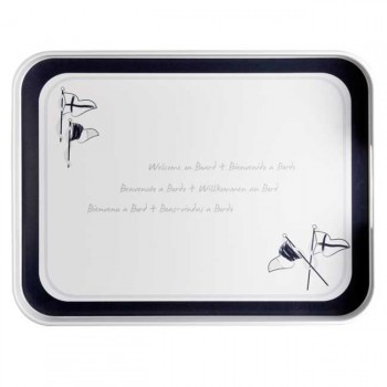 Marine Business Vassoio Con Manici Welcome On Board 40 X 30 Cm
