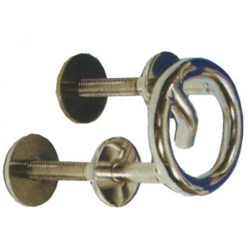 GOLFARE CON ANELLO PER TRAINO SCI IN ACCIAIO INOX DIAMETRO 65 MM