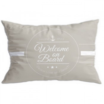 Set 2 Cuscini- Welcome Beige, Santorini 40x60 Cm Marine Business