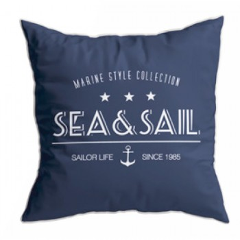 Set 2 Cuscini- Sea&sail Blu, Santorini 40x40 Cm Marine Business