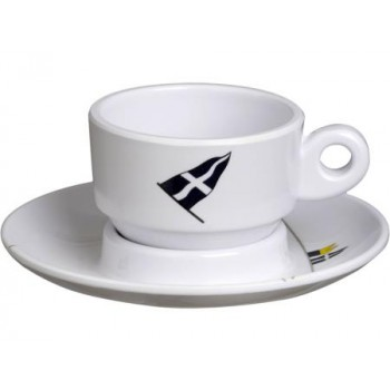Set 6 Tazzine Da Caffe' Con Piattino Marine Business