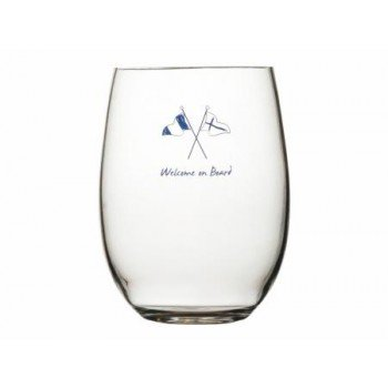 Set 6 Bicchieri Acqua Welcome On Board Marine Business