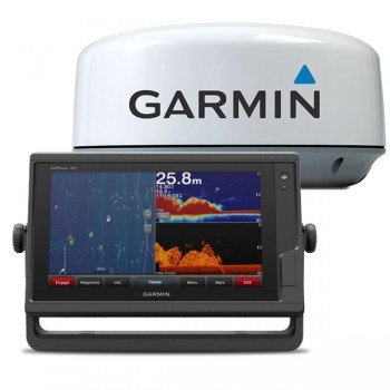 "Garmin Gpsmap 922xs, Display 9"" Touchscreen Multifunzione Con Ecoscandaglio Integrato E Radar Gmr 18hd+"