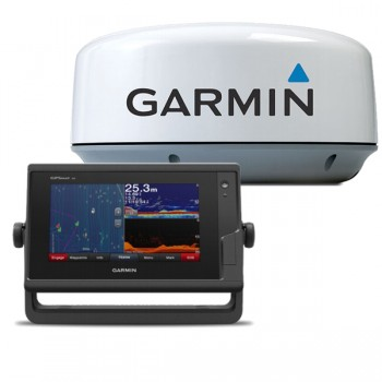 "Garmin Gpsmap 722xs, Display 7"" Touchscreen Multifunzione Con Ecoscandaglio Integrato E Radar Gmr 18hd+"