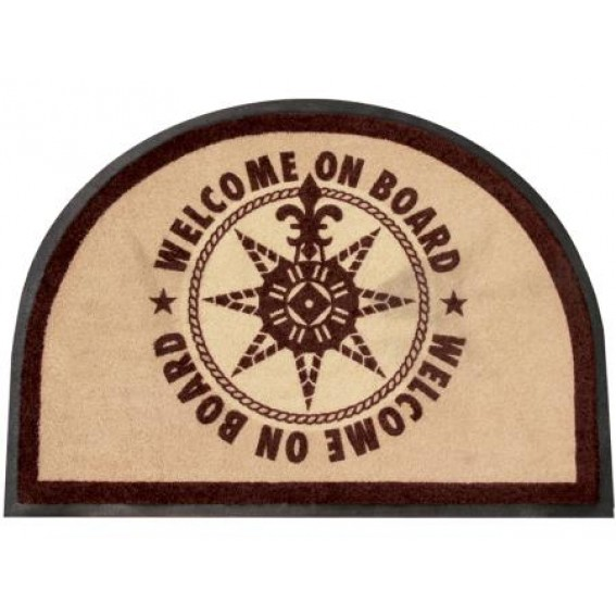 TAPPETO MARINE BUSINESS WELCOME ON BOARD BROWN 50X70 CM
