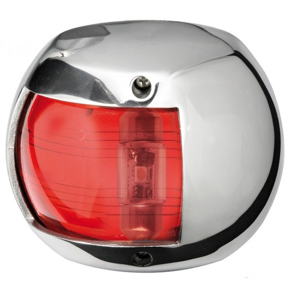 FANALE ROSSO -12 MT-LED 12/24V -INOX-