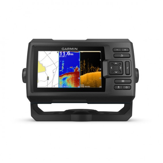 "GARMIN STRIKER™ Vivid 5cv Display 5"",500W, Frequenza 50/77/200 kHz - CHIRP/CHIRP ClearVü (trasduttore incluso GT20-TM CHIRP 77/200 kHz e CHIRP ClearVü 455/800 kHz)"