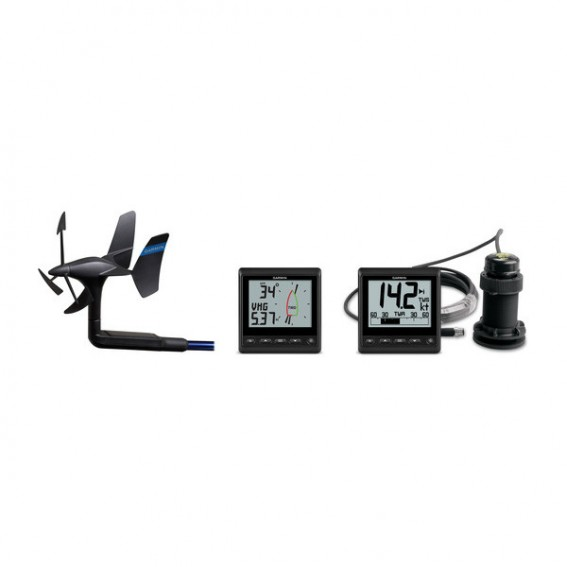 GARMIN GNX Wireless Sail Pack: trasduttore gWind Wireless 2, display    GNX Wind, GNX 20 e trasduttore DST 800