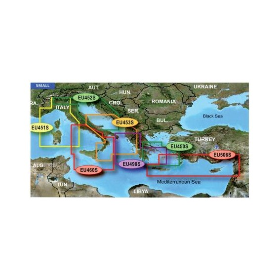 GARMIN SMALL AREA G2 VISION HD - VEU490S - Greece West Coast And Athens