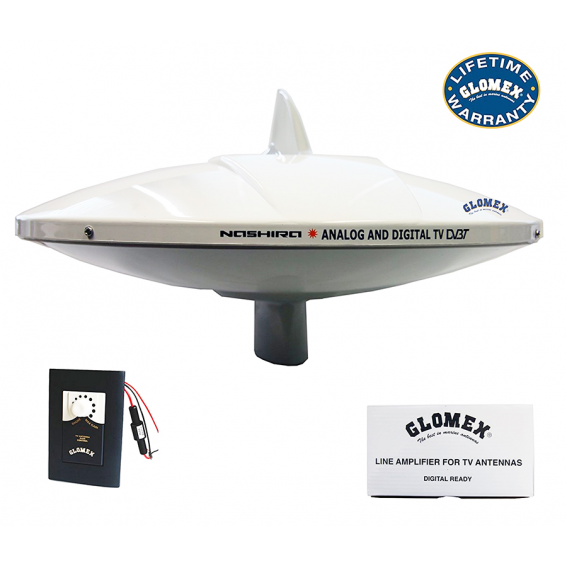 GLOMEX ANTENNA TV DIGITALE TV 9112 AGC NASHIRA